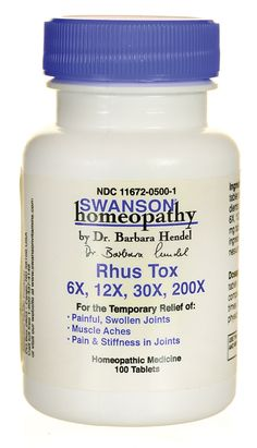 Rhus Tox 6X, 12X, 30X, 200X Rhus Tox is routinely recommended by homeopathic practitioners in cases of muscle and joint rheumatism, lumbago (lower back pain) and sciatica.