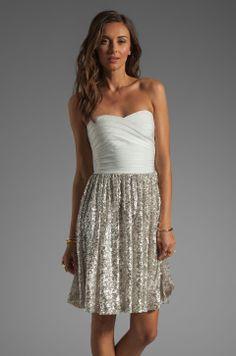 ERIN erin fetherston Antoinette Dress in White/Sliver