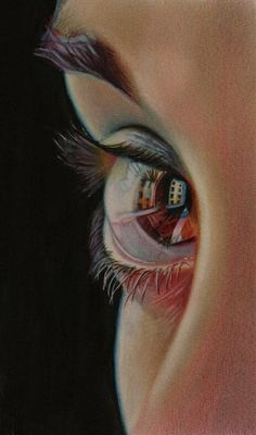 Ideas eye drawing reflection colored pencils for 2019 Drawn Art, Color Pencil Art, Ap Art, Love Art, Painting & Drawing, Drawing Eyes, Colored Pencils, Coloured Pencil Drawings, Amazing Art