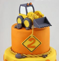 Braden Digs His Birthday Digger Birthday Cake, Digger Cake, 3rd Birthday Cakes, Excavator Cake, Teddy Bear Cakes, Cake Templates, Construction Birthday Parties, Construction Party, Cakes For Boys