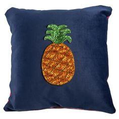Pina Naranja Cushion in Blue