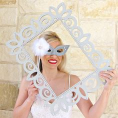 DIY Photo Booth Props: Frames | Spray paint cardboard frames and decorate