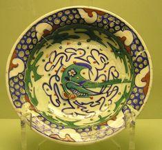 Iznik Plate – Bird in Green & Blue Color  Iznik 16th – Museum of Islamic Art Turkey