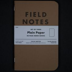 The notebook that started it all. Crisp kraft cover. Beautiful, American lined paper. 48 pages of paper waiting for your ideas. And when you're finished with one, you've got two more. Product Details-