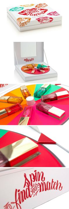 Clarins Lip Oil Kaleidoscope Wheel packaging by MW Luxury Packaging