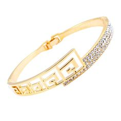 $7.15 - Rhinestoned Hollow Out Bracelet For Women - WHOLESALE JEWELRY - Wholesalerz.com