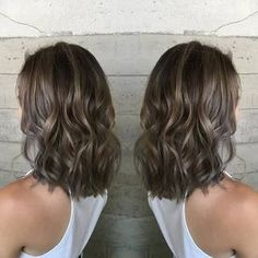 Long Wavy Ash-Brown Balayage - 20 Light Brown Hair Color Ideas for Your New Look - The Trending Hairstyle Ash Brown Hair Color, Hair Color And Cut, Light Brown Hair, Medium Ash Brown Hair, Ash Highlights Brown Hair, Ombre Highlights, Ash Balayage, Ash Brown Bayalage, Ash Blonde Hair