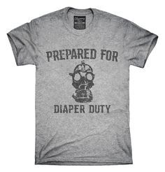 New Dad Prepared For Diaper Duty Funny T-Shirts, Hoodies, Tank Tops