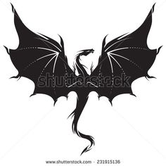 Stylized image of Dragon in black and white. Stylized image of Dragon in black and white. This image has. Black Dragon Tattoo, Small Dragon Tattoos, Dragon Tattoo For Women, Dragon Tattoo Designs, Nature Tattoos, Body Art Tattoos, Watercolor Dragon Tattoo, Tattoo Minimaliste, Tattoo Diy