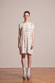 Hey, I found this really awesome Etsy listing at https://www.etsy.com/listing/111090433/hand-drawn-bird-printed-dress