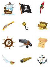 Piratenmemory, free printable / Jeu de mémoire à imprimer - les pirates