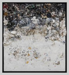 Recipe For A Painter: Michael Chow Aka Zhou Yinghua ~O-O~ God Bless Christie's Again (2013) Mixed media: household paint with precious metals and trash 182.88 x 167.64 cm (72 x 66 in.)