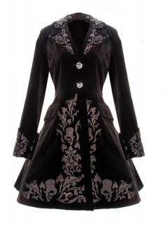steampunk winter coat | ... BLACK COAT SPIN DOCTOR VINTAGE GOTHIC STEAMPUNK VELVET COAT 2013 NEW