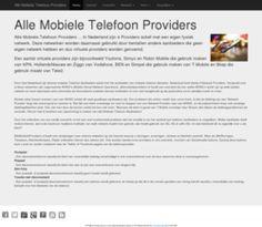 Alle Mobiele Telefoon Providers