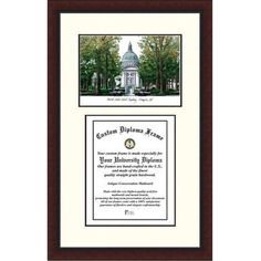 United States Naval Academy 14 inch x 10 inch Legacy Scholar Diploma Frame, Multicolor