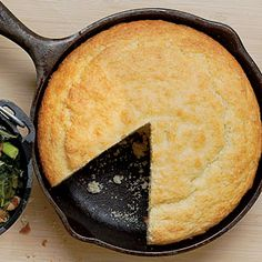 Buttermilk Cornbread Recipe...just tried out one of my Christmas presents, a cast iron skillet! -BB