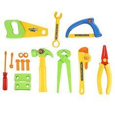 TANGimp Children Repair Tools Toy Set Pretend Play 15pcs *** For more information, visit image link.