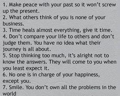 THE 7 RULES OF LIFE ^ x @ElizabethLinwe