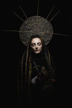 """Lady of Sorrow"" — Photographer: Gianluca PalmaStylist/Headpiece/Accessories/Makeup: Carlo PapezzeraSpecial Thanks: Romeur Academy"