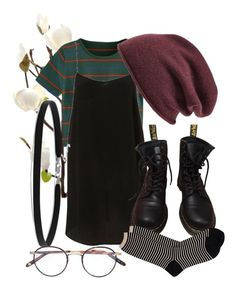 """""""if i go to hell would you come with me or just leave"""" by qimmig on Polyvore featuring BillyTheTree, Dr. Martens, Halogen, Garrett Leight and Antipast"""