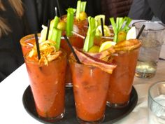 Bloody Mary heaven. Logan Tavern. Brunches are typically packed.