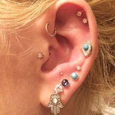 Ear piercing. Tragus. Anti tragus. Helix. Forward helix. Double helix. Lobe. Piercings.