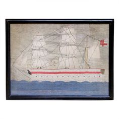 1stdibs | Sailor's Woolwork (or Woolie) - HMS Tyne, 1887