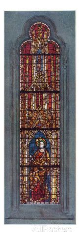 The Figure of Saint Margaret Depicted in the West Window of the North Aisle of York Minster Giclee Print at AllPosters.com