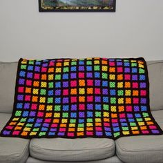 Midnight Brites Blanket - Absolutely love the bright colors! <3
