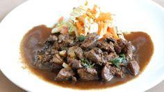 Fotorecept: Kuracia pečeň so zázvorom Beef, Food, Meat, Essen, Meals, Yemek, Eten, Steak