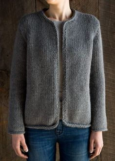 Classic Knit Jacket knitting pattern by Purl Soho.How happy I would be if I could knit this: Purl SohoFree Knitting Pattern for Easy Knit Cardigan Pattern, Sweater Knitting Patterns, Crochet Poncho, Jacket Pattern, Knitting Designs, Knit Patterns, Free Knitting, Knitting Needles, Knit Shrug