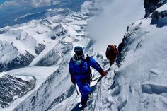 Climbers on Mt. Everest- image only.