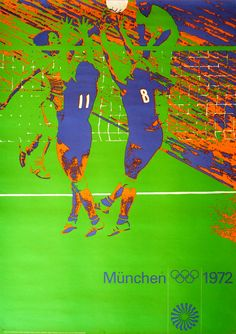 Munich 1972 Summer Olympics - Volleyball poster. Design by Otl Aicher