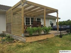 Villa No 3 - Hemma hos Diy Pergola, Diy Patio, Outdoor Rooms, Outdoor Gardens, Outdoor Living, Backyard Patio Designs, Backyard Landscaping, Garden Sitting Areas, Diy Terrasse