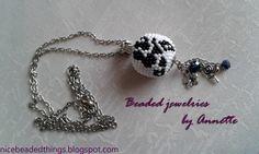Гарненькі бісерні штучки | Beaded jewelries by Annette: Магія чорної троянди