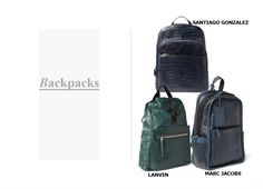Fashion Men Spring 2014 #spring #2014 #men #fashion #dmafashion #bags #backpacks #lanvin #marcjacobs #santiagogonzalez