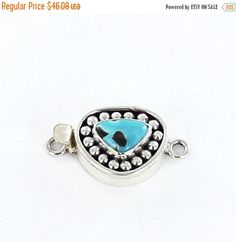20% Off Carico Lake Turquoise Clasp Dot Design 9 by NewWorldGems