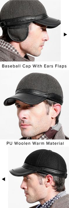 US$15.29+Free shipping. Baseball Cap, Snapback Hats, Ears Flaps, Outdoor, Winter, Warm, PU Woolen Material, Adjustable. Color: Black,Grey. Shop now~