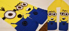 Minion inspired scarf - a crochet pattern for you