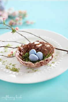 Chocolate egg bowl tutorial