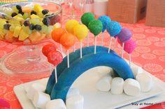 rainbow cake pops- Bridging ceremony