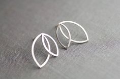 Double Marquis Sterling Silver Earrings