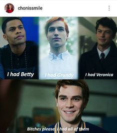 Perdón… Pero no tenes a Betty… Jughead tiene a Betty… Sorry … But you don't have Betty … Jughead has Betty … Riverdale Quotes, Bughead Riverdale, Riverdale Funny, Riverdale Betty, Riverdale Archie, Funny Kid Memes, Funny Kids, Hilarious, Movie Memes