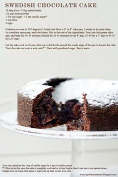 swedishchocolatecakerecipe by topwithcinnamon, via Flickr