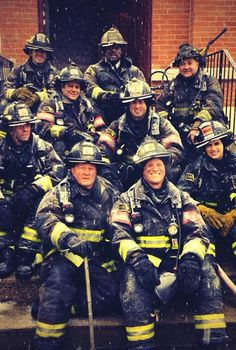 Chicago Fire: The Firehouse 51 gang braving the elements. | Shared by LION