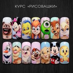 Photo shared by worlds_nails_official on February 2019 tagging La imagen puede contener: 1 persona Animal Nail Designs, Disney Nail Designs, Animal Nail Art, Cute Nail Art Designs, Cartoon Nail Designs, Disney Acrylic Nails, Summer Acrylic Nails, Best Acrylic Nails, Nail Art Dessin