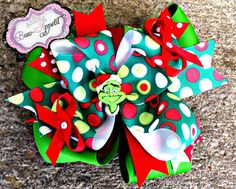 grinch bow -- need a bow like this for HA (and a matching skirt)
