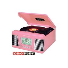 pink record player found on Polyvore