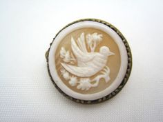 Antique Cameo Brooch  Carved Shell  Victorian by VintageInBloom, $85.00