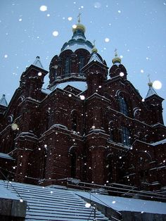 Gorgeous setting of a church in Helsinki, Finland in the winter Holland, Snow Days, Winter Scenery, The Beautiful Country, And So The Adventure Begins, Baltic Sea, Cathedrals, Helsinki, Oh The Places You'll Go